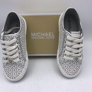 Michael Kor's IMA BOERUN White/silver sneaker